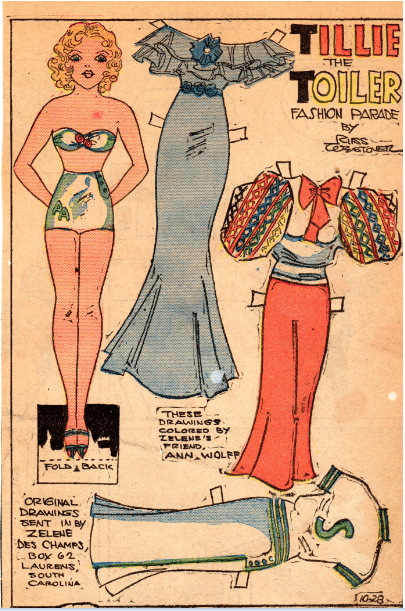 """Tillie the Toiler"" paper doll"