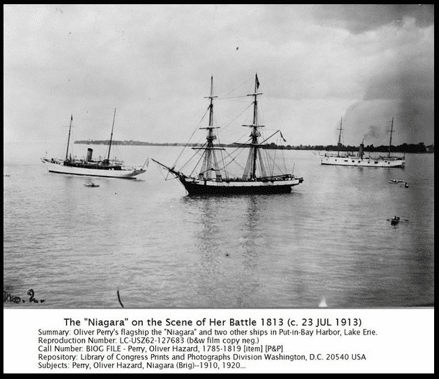 "photo of Oliver Perry's flagship ""Niagara,"" Library of Congress Prints and Photographs Division"