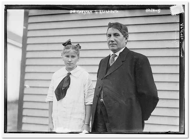 photo of Dr. Edwin Carman with his daughter Elizabeth