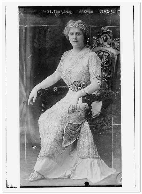 photo of Florence Carman, wife of Dr. Carman