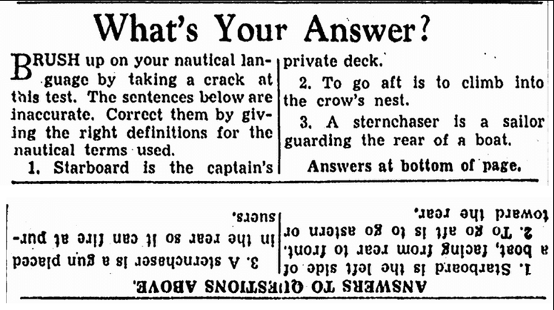 What's Your Answer? Repository newspaper article 27 December 1939
