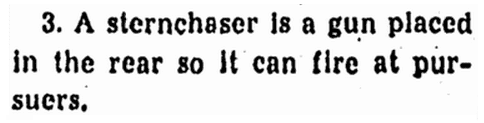 notice of a ship's sternchaser, Repository  newspaper article 27 December 1939
