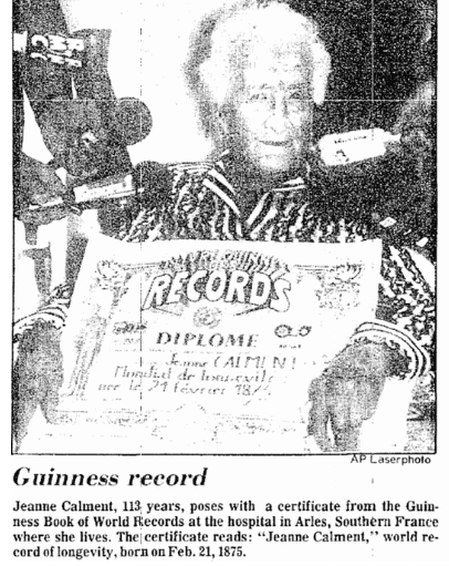 Guinness Record, Aberdeen Daily News newspaper article 15 June 1988