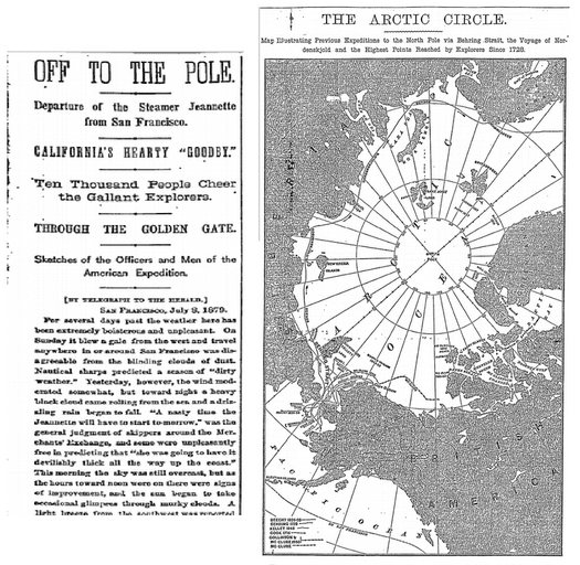Off to the Pole, New York Herald newspaper article 9 July 1879