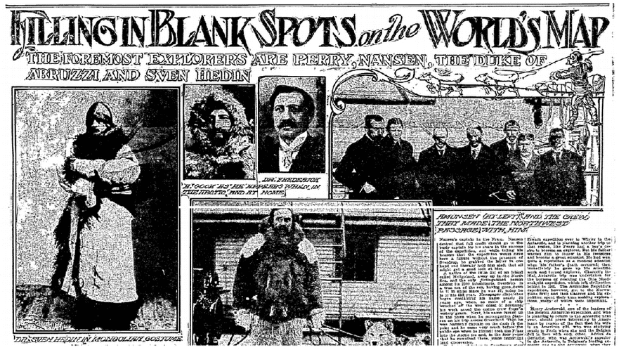 Filling in Blank Spots on the World's Map, Oregonian newspaper article 23 August 1908