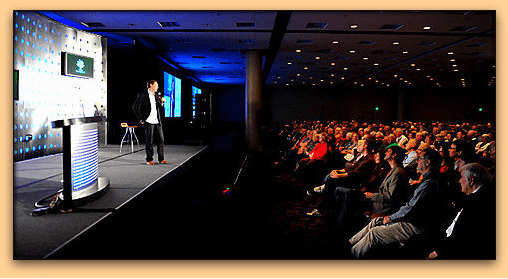photo of a presentation made during the 2013 RootsTech genealogical conference