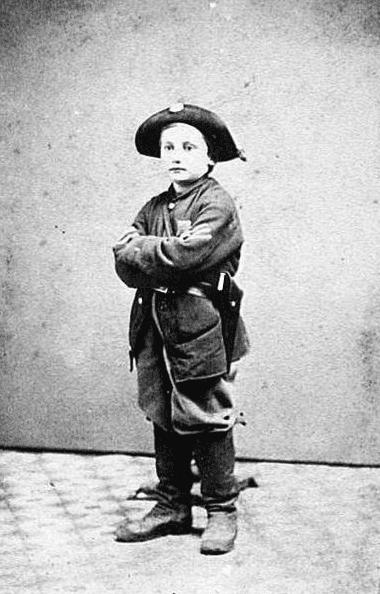photo of Civil War drummer boy John Clem