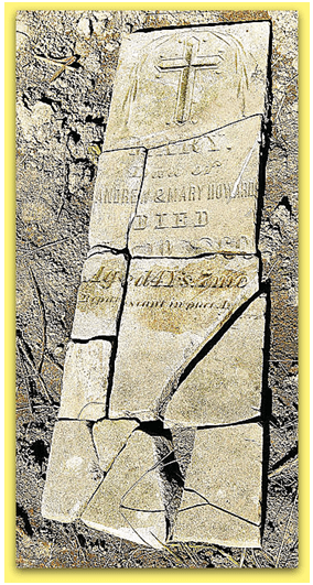 Old Tombstone from Prairietown, Illinois Cemetery