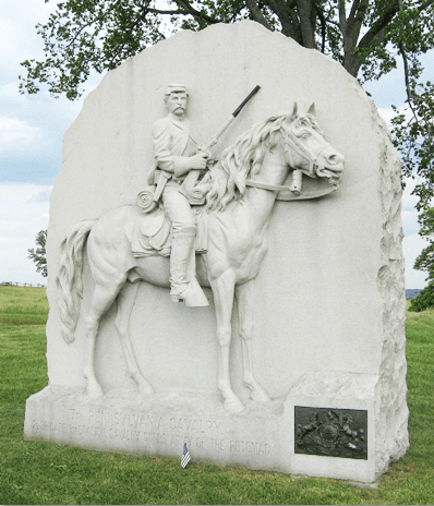Monument 17th Pennsylvania Cavalry Civil War