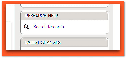"screen shot of the new ""Search and Attach Records"" feature on FamilySearch"