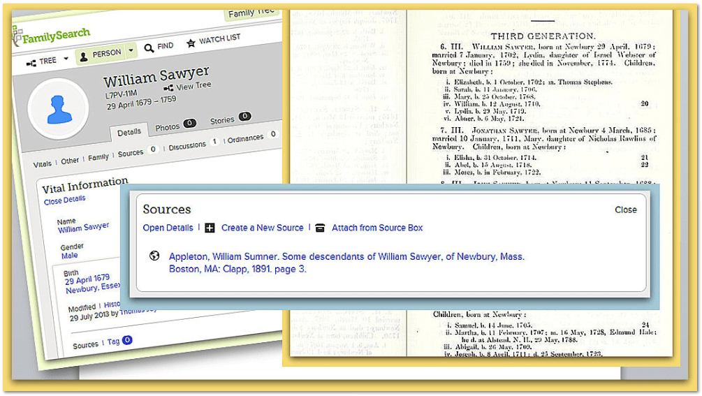 genealogical information about William Sawyer