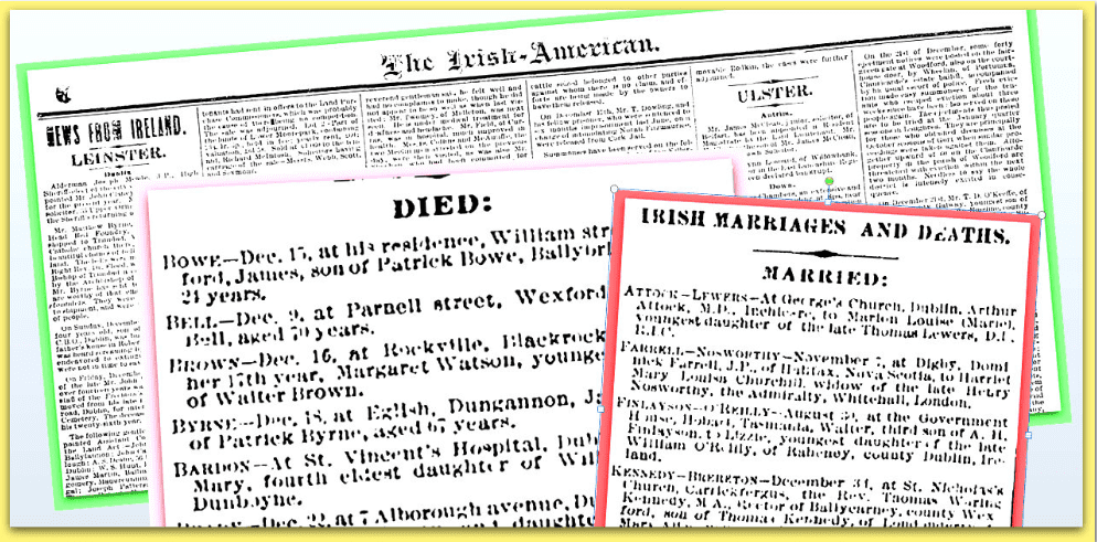Irish American Weekly News & Death Notices