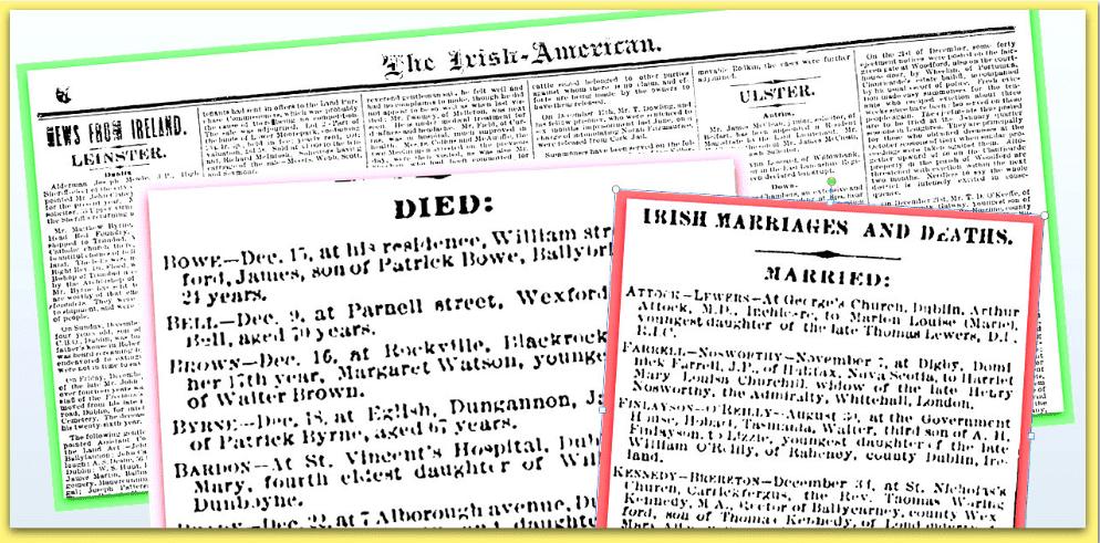 Irish American Weekly News & Death Notices