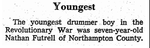 Greensboro Daily News Newspaper Nathan Futrell Revolutionary War