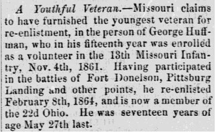 Lowell Daily Citizen & News Newspaper George Huffman Civil War