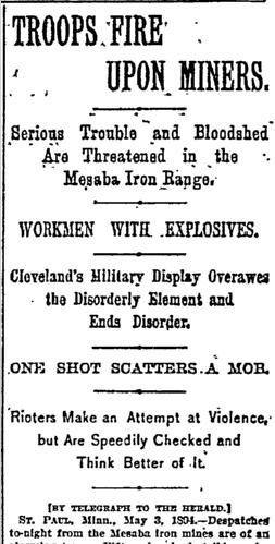 Miners Mesaba Iron Range New York Herald Newspaper