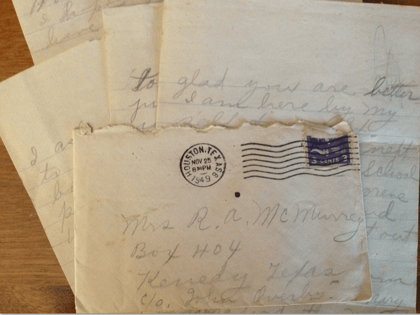 photo of an old letter