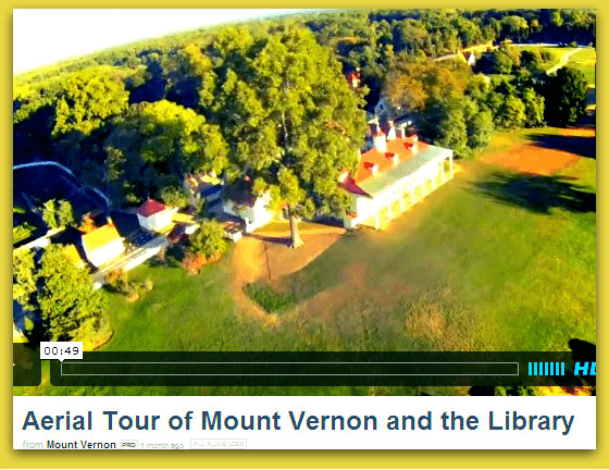 video of an aerial tour of George Washington's Presidential Library
