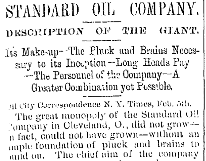 Standard Oil Coopers Plain Dealer Newspaper