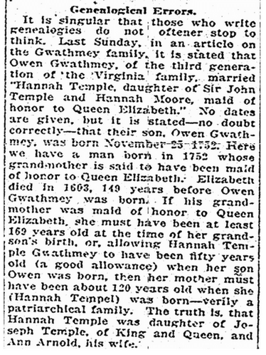 Rchmond Times Dispatch Newspaper Gwathmey Family Genealogy