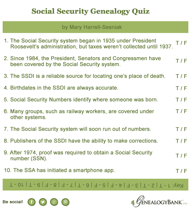 Social Security Genealogy Quiz