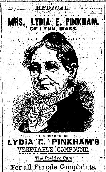 Mrs Lydia E. Pinkham of Lynn Mass. Medical Vegtable Compound - Watertown Daily Times