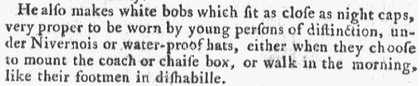 notice about waterproof hats, Georgia Gazette newspaper article 21 February 1765