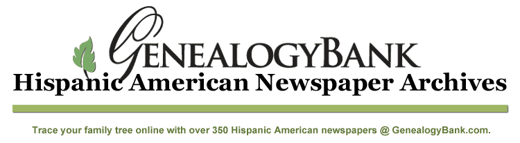 List of Hispanic American Newspapers at Genealogy Bank