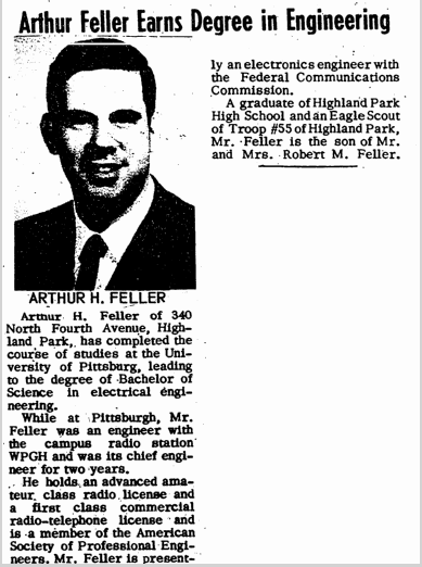 Arthur Feller Earns Degree in Engineering, Jewish Journal newspaper article 27 September 1968