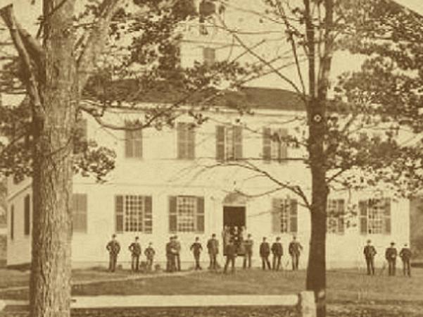 Photo: Gilmanton Academy, Gilmanton, Belknap Couunty, New Hampshire, c. 1869. Credit: Wikimedia Commons.