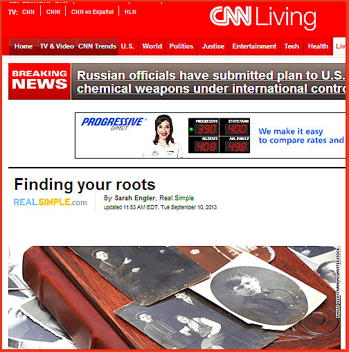 Finding Your Roots, CNN news report 10 September 2013