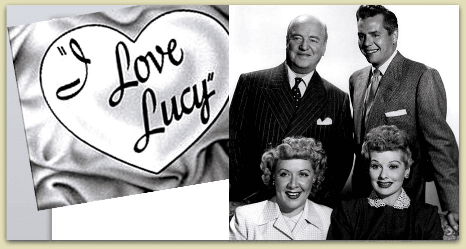 "photo of the four actors from the ""I Love Lucy"" TV show"