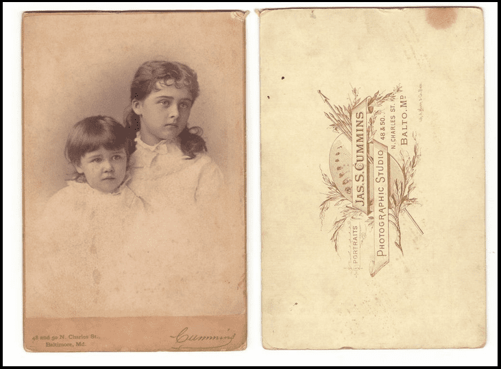 Dating old cabinet cards