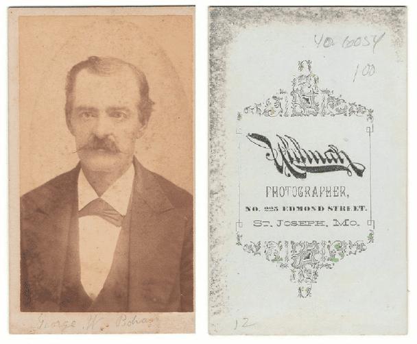 photo of a Carte de Visite showing George Bohun