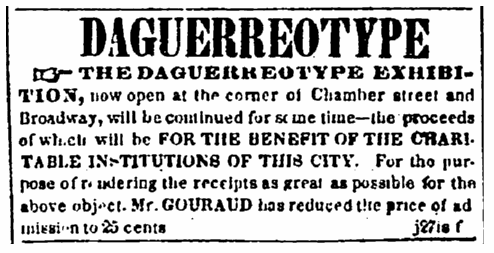 The Daguerreotype Exhibition, Evening Post newspaper article 4 February 1840