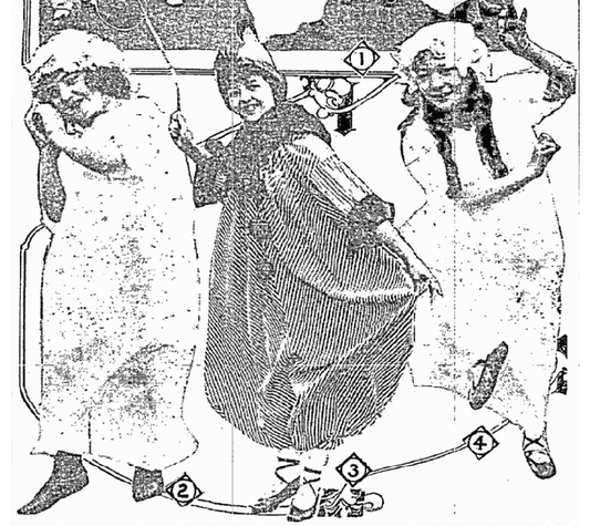 photo of children wearing Halloween costumes, Oregonian newspaper article 31 October 1915