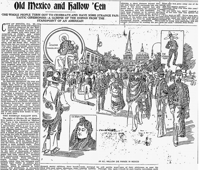 Old Mexico and Hallow'een, Philadelphia Inquirer newspaper article 25 October 1896