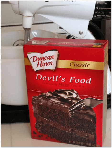 photo of a box of Duncan Hines cake mix