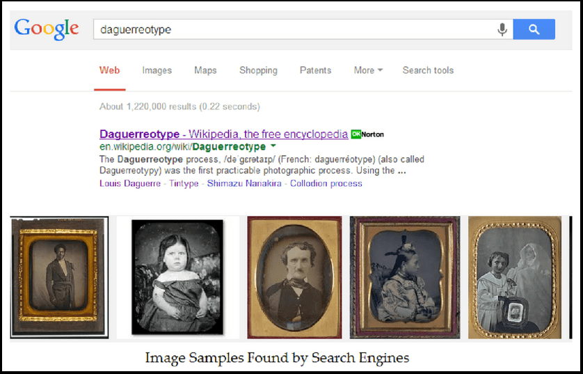 screenshot of Google search page showing photographic images