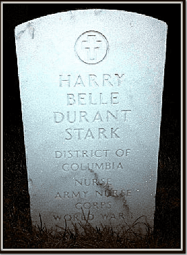 photo of the front of Harrybelle Stark's tombstone