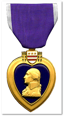photo of a Purple Heart medal