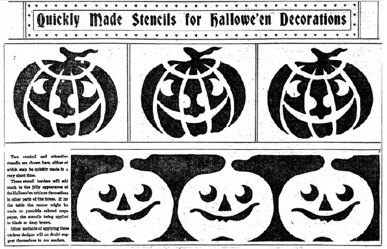 halloween stencils plain dealer newspaper article 29 october 1911 - Article About Halloween