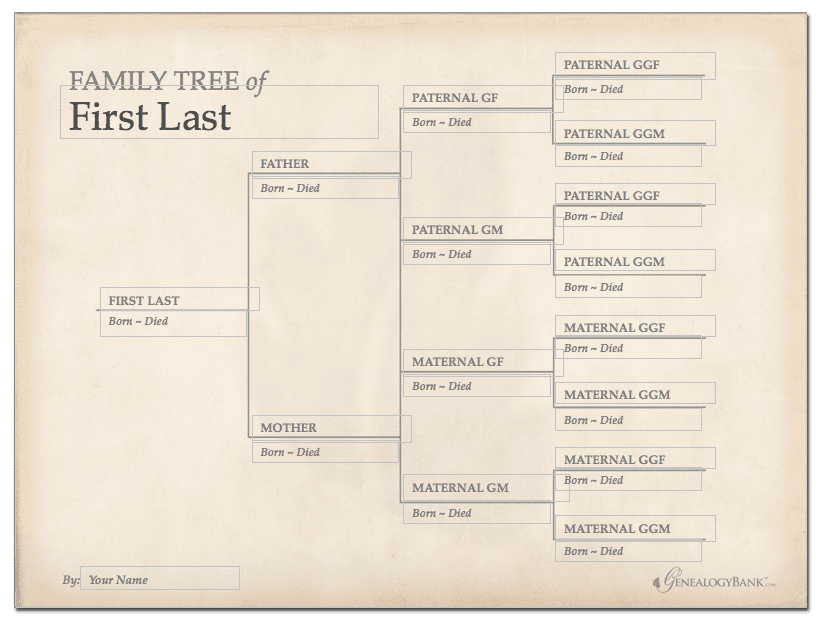 Family tree template how to get started genealogybank free printable family tree chart template pronofoot35fo Gallery