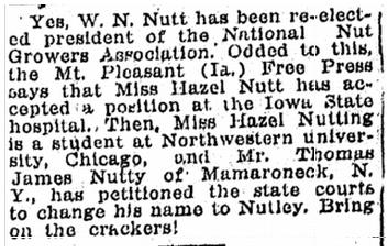 job notices, Kalamazoo Gazette newspaper article 11 November 1915