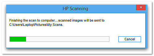 screenshot of a scanner in operation