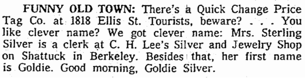 Funny Old Town, Seattle Daily Times newspaper article 27 November 1961