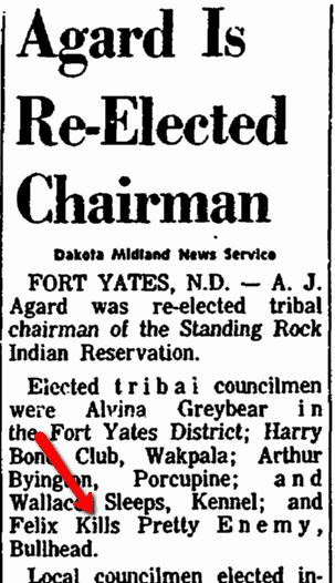 Agard Is Re-Elected Chairman, Aberdeen Daily News newspaper article 22 October 1967