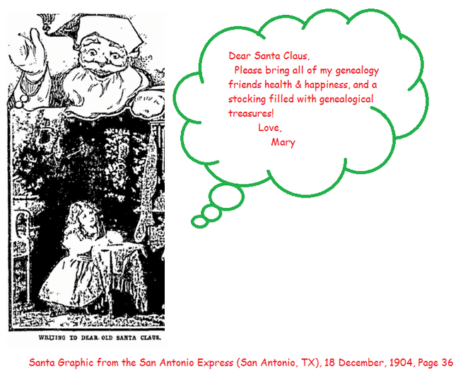 Christmas card from Mary Harrell-Sesniak to her blog readers