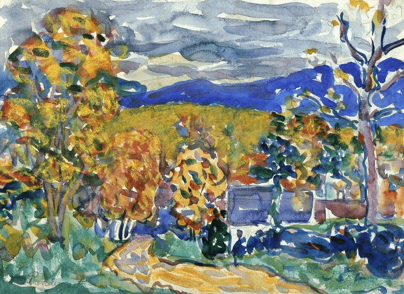 "the painting ""Autumn in New England"" by Maurice Prendergast"