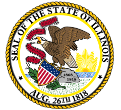 photo of the official state seal of Illinois
